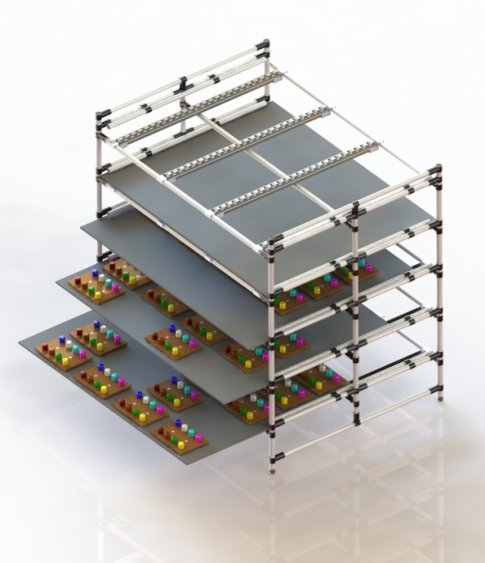 Magazzino lean manufacturing con piani scorrevoli for Piani di progettazione di stoccaggio garage